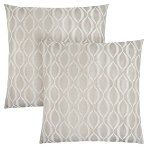 "18"" x 18"" Taupe, Wave Pattern - Pillow 2pcs"