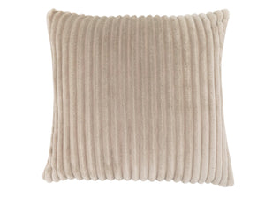 "18"" x 18"" Beige, Ultra Soft Ribbed Style - Pillow"