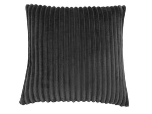 "18"" x 18"" Black, Ultra Soft Ribbed Style - Pillow"
