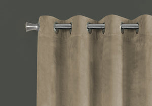 "52"" x 95"" Beige, Room Darkening - Curtain Panel 2pcs"