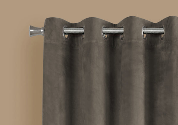 "52"" x 84"" Taupe, Room Darkening - Curtain Panel 2pcs"