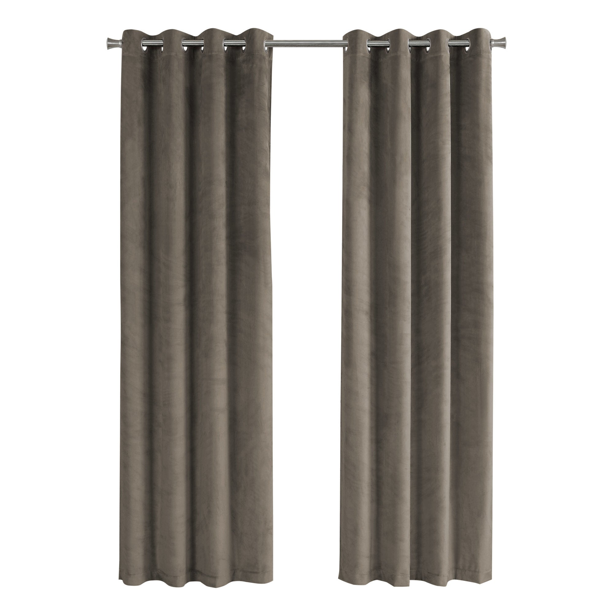 "52"" x 95"" Taupe, Room Darkening - Curtain Panel 2pcs"