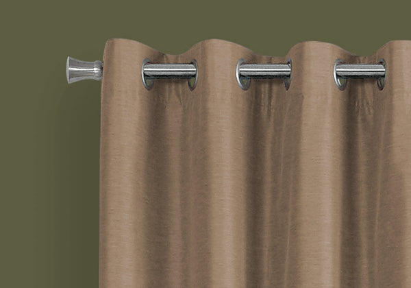 "52"" x 84"" Brown, Solid Blackout - Curtain Panel 2pcs"