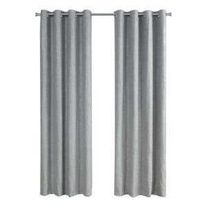 "52"" x 84"" Silver, Room Darkening - Curtain Panel 2pcs"