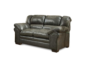 "75"" X 39"" X 39"" Stallion Charcoal 100% PU (polyurethane) Loveseat"