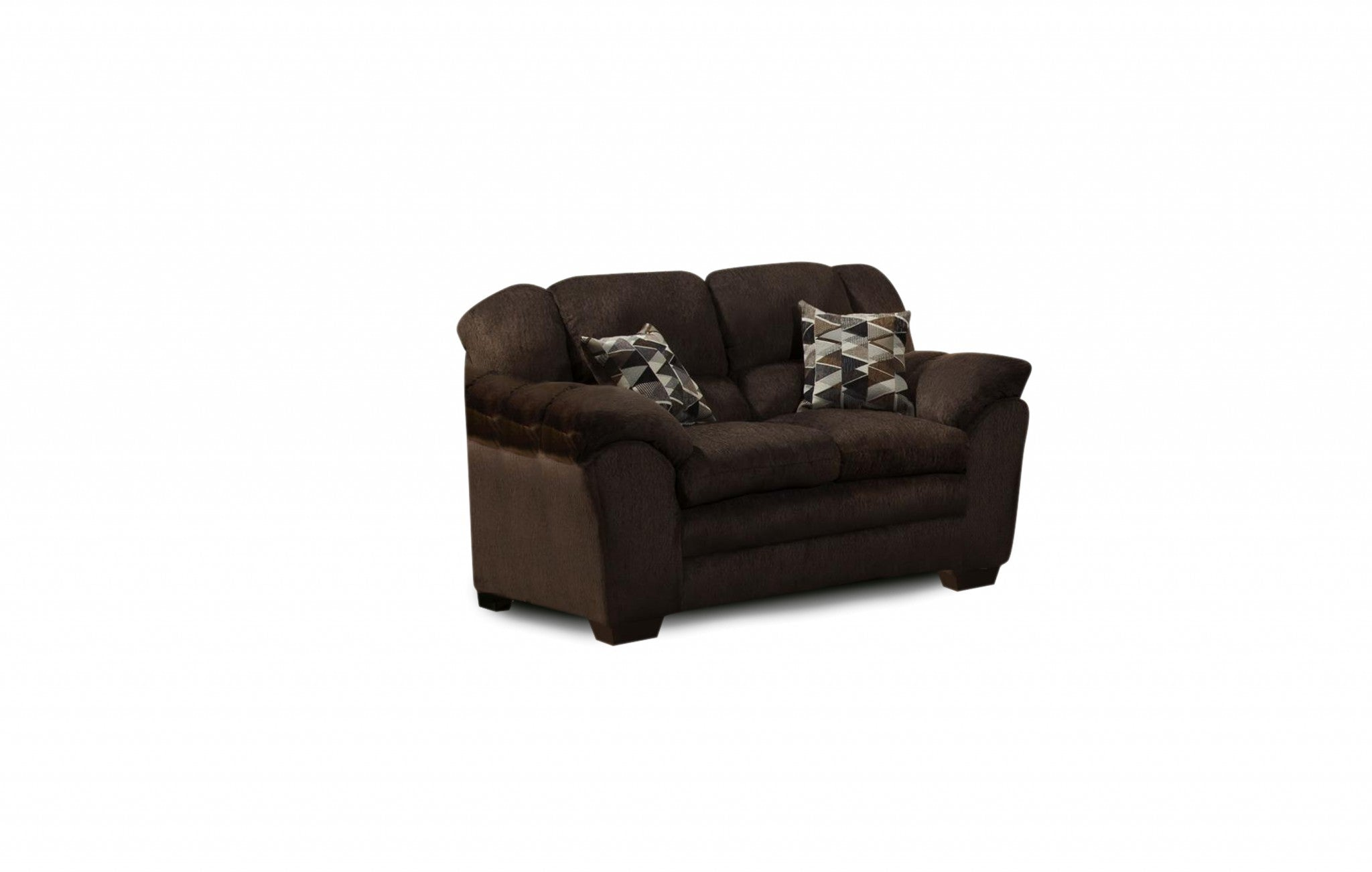 "75"" X 39"" X 39"" Osaka Chocolate 100% Polyester Loveseat"