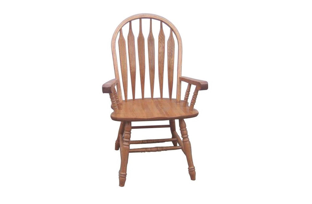 "23.5"" X 18"" X 41.25"" Harvest Oak Hardwood Arm Chair"