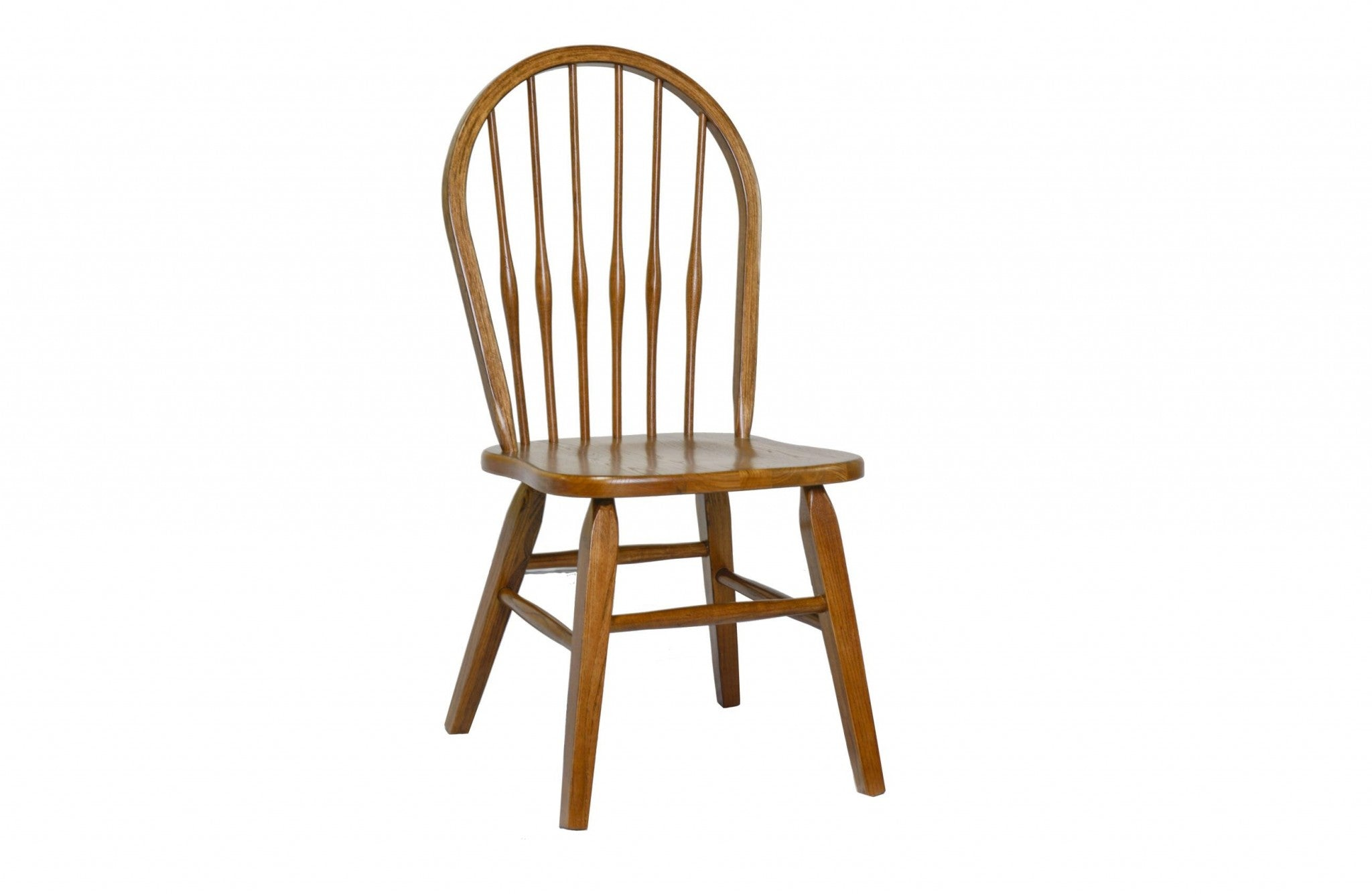 "18"" X 21"" X 36.5"" Burnished Walnut Hardwood Side Chair"