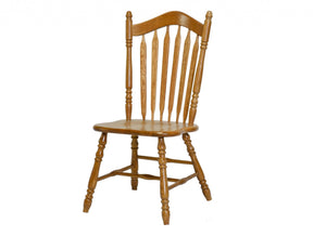 "19.25"" X 17.125"" X 41.375"" Harvest Oak Hardwood Side Chair"