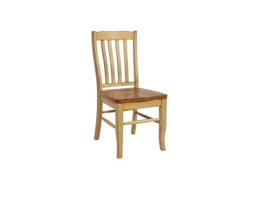 "18.5"" X 23"" X 38.125"" Two Tone Hardwood Side Chair"