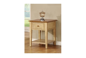 "20"" X 24"" X 26"" Two Tone Hardwood End Table"
