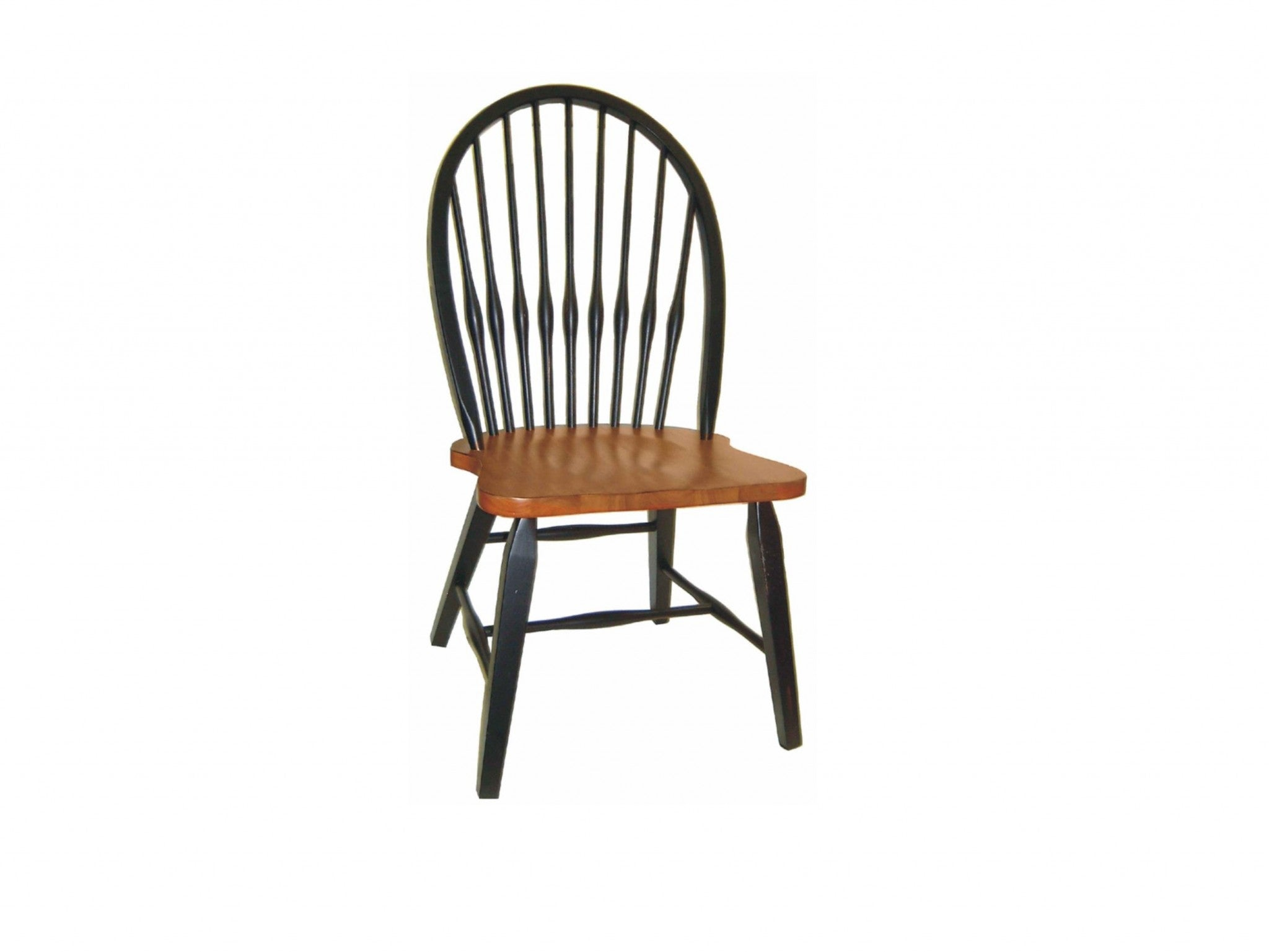 "20"" X 21.5"" X 41"" Harvest And Black Hardwood Torchwood Side Chair"