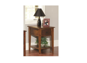 "20"" X 24"" X 26"" Tobacco Hardwood End Table"