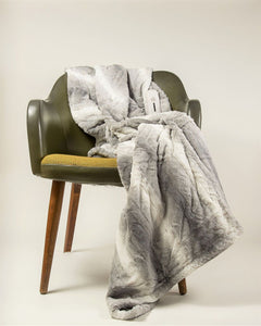 "50"" x 60"" Grey & White Modern-Contemporary Heated - Throw Blankets"
