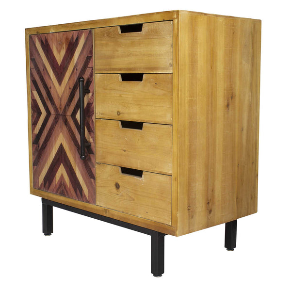 "31'.5"" X 15'.75"" X 31'.5"" Brown MDF Contemporary Wooden Cabinet"