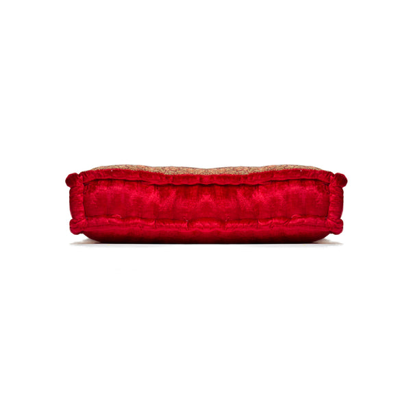 "5"" x 18"" x 18"" Silk Red Pillow"