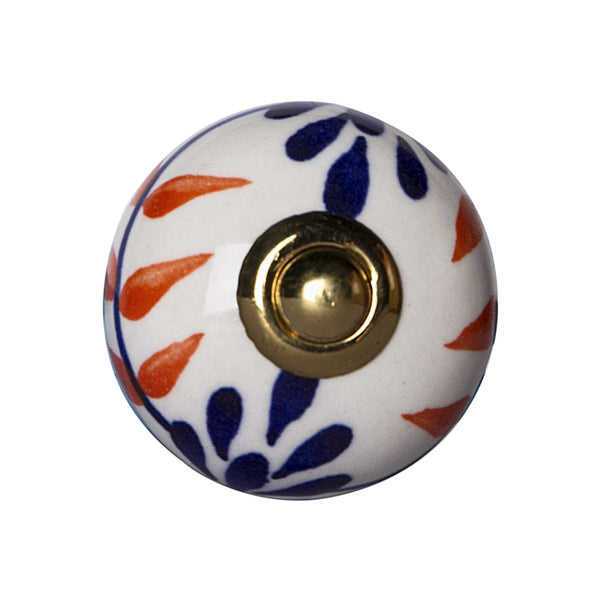 "1.5"" x 1.5"" x 1.5"" Ceramic-Metal Multicolor 12 Pack Knob"