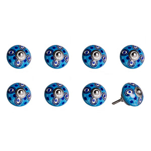 "1.5"" x 1.5"" x 1.5"" Ceramic-Metal Multicolor 8 Pack Knob"