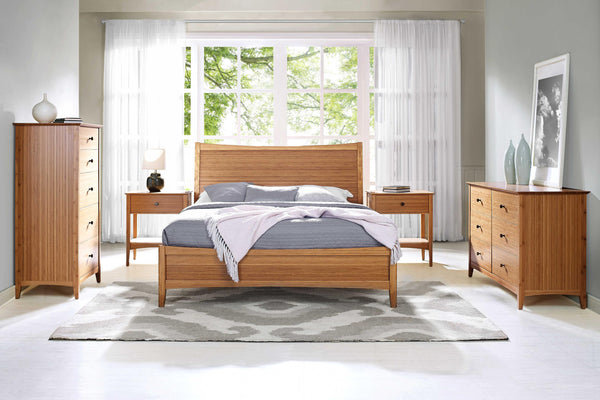 "81.1"" x 87.1"" x 46"" Eastern King Platform Bed, Caramelized"
