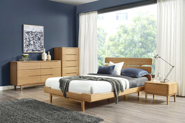 "81.1"" x 88.15"" x 39.55"" Eastern King Platform Bed, Caramelized"