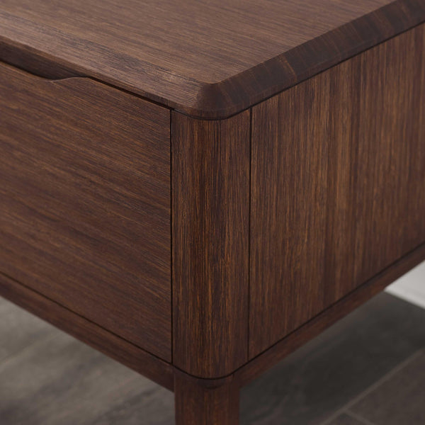 "24"" x 18.05"" x 17.7"" Nightstand, Oiled Walnut"