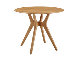 "36.06"" x 36.06"" x 29.53"" Round Dining Table, Caramelized"