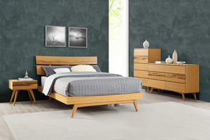 "76"" x 91.25"" x 39.5"" California King Platform Bed, Caramelized"