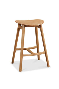 "19.9"" x 15.8"" x 31.5"" Bar Height Stool, Caramelized, (Set of 2)"