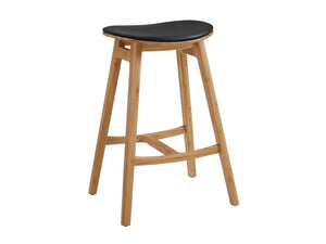 "19.9"" x 15.6"" x 28.5"" Counter Height Stool With Leather Seat, Caramelized, (Set of 2)"