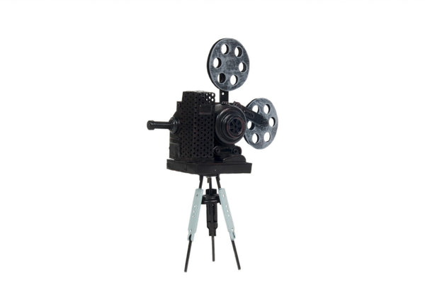 "3"" x 8.5"" x 12.5"" Metal, Handmade, Vintage Movie Projector"