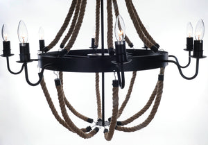 "35.5"" x 35.5"" x 47"" 8 Bulbs, Large, Rope - Pendant Lamp"