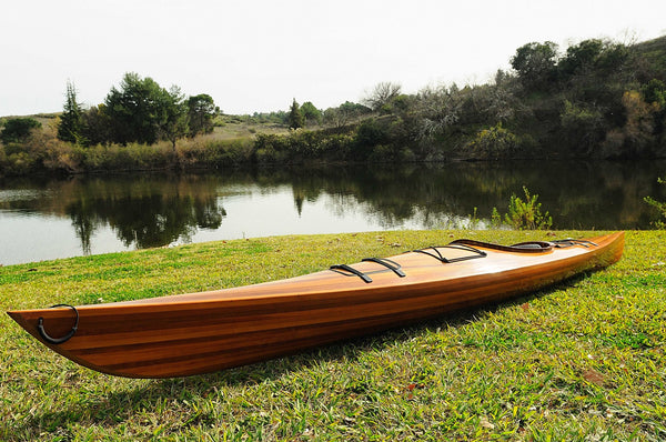 "23"" x 206"" x 13"" Wooden Kayak - 1 person"