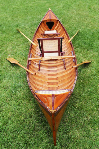 "39.5"" x 190"" x 25.5"" Traditional Wooden Canoe With Ribs"