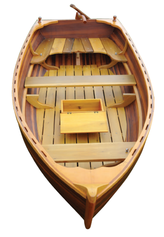 "51"" x 118.5"" x 27.75"" Matte Finish, Little Bear Wooden Dinghy"