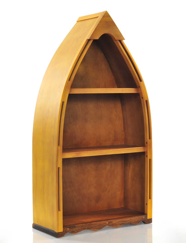 "7"" x 18.5"" x 34.3"" Wooden Canoe Book Shelf Small"