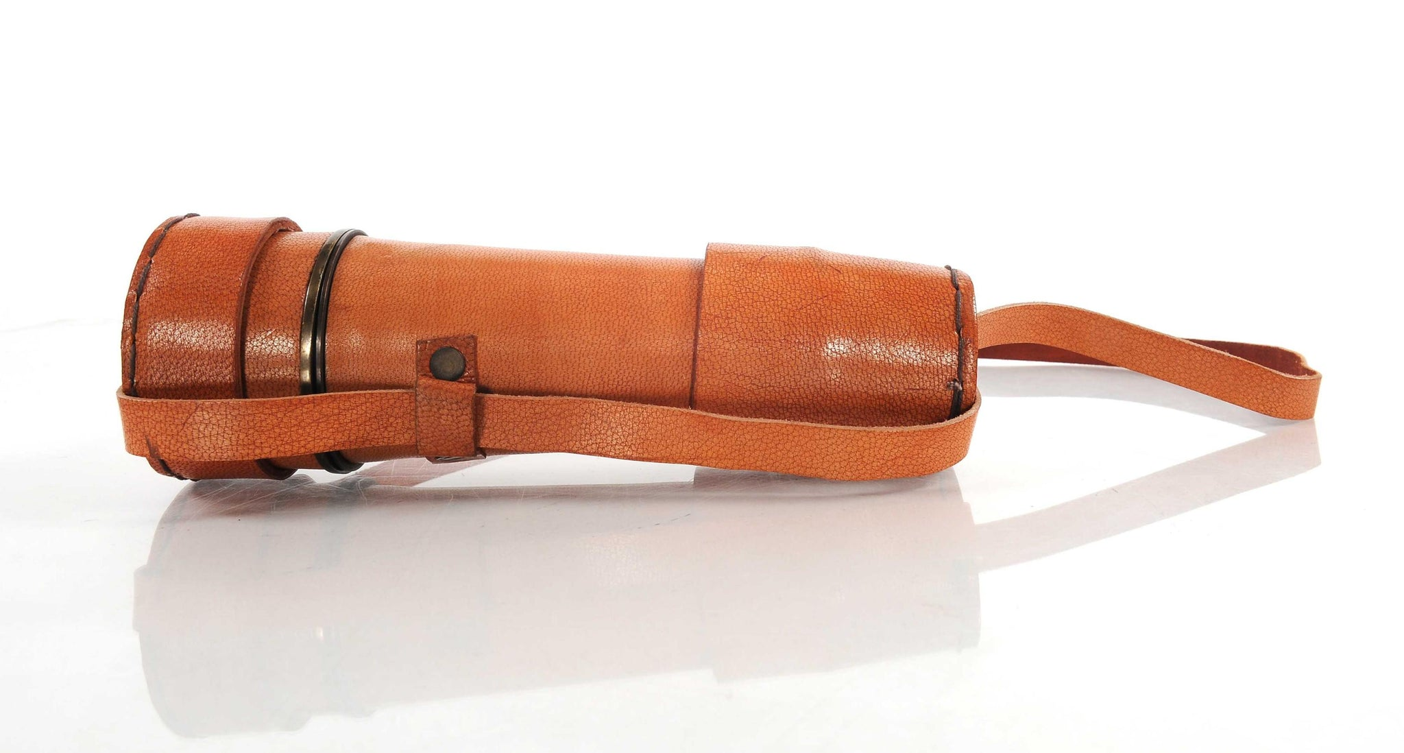 "2.25"" x 15"" x 2.25"" Handheld Telescope with Leather Overlay"