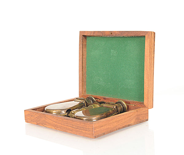 "4.25"" x 3"" x 1"" Folding Binocular in Wood Box"