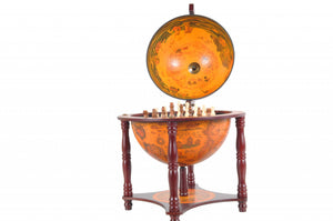 "16.5"" x 16.5"" x 22"" Red Globe with Chess Holder"