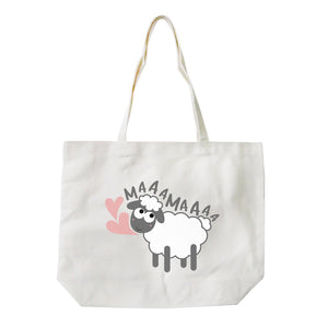 MaaaMaaa Sheep Eco-Friendly Cotton Canvas Bag Washable Tote Gifts