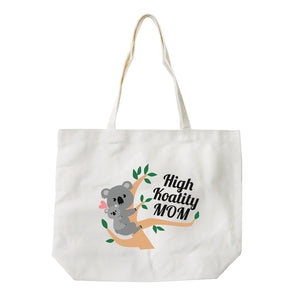 High Koality Mom Reusable Eco Canvas Tote Bag For Mothers Day Gifts