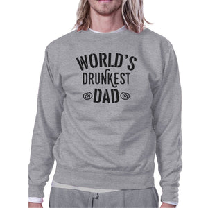 World's Drunkest Dad Unisex Grey Sweatshirt Humorous Gifts For Dad