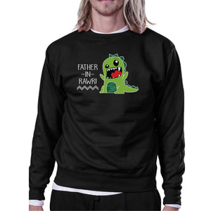 Father-In-Rawr Black Funny In-Law Gifts Sweatshirt For Fathers Day