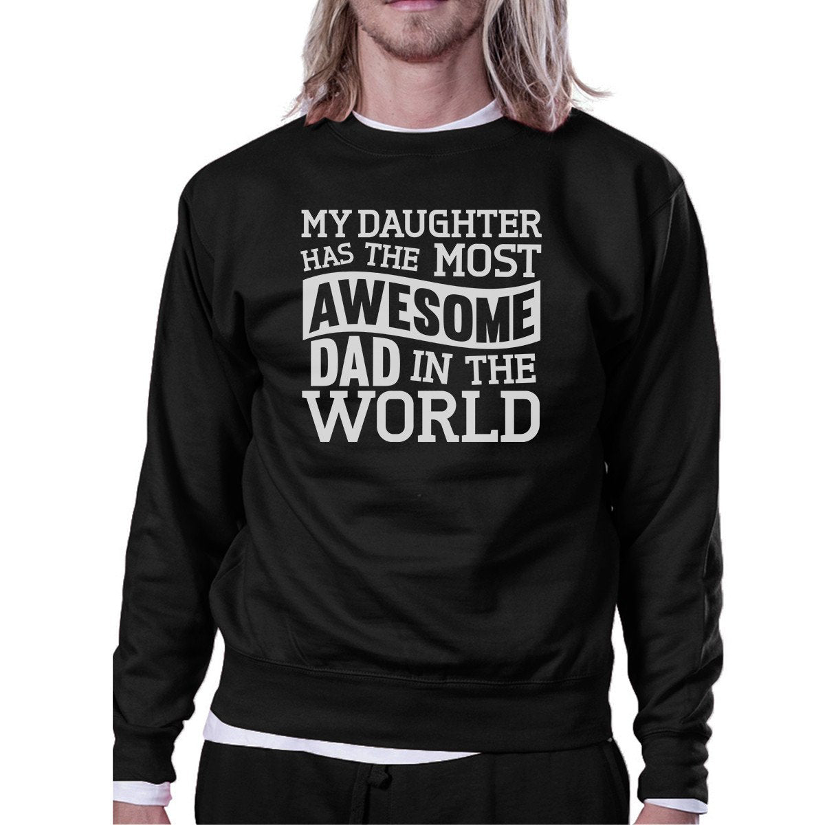The Most Awesome Dad Mens Crewneck Sweatshirt Perfect Gifts For Dad