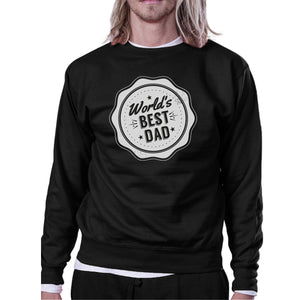 World's Best Dad Unisex Black Sweatshirt Christmas Gifts For Dad