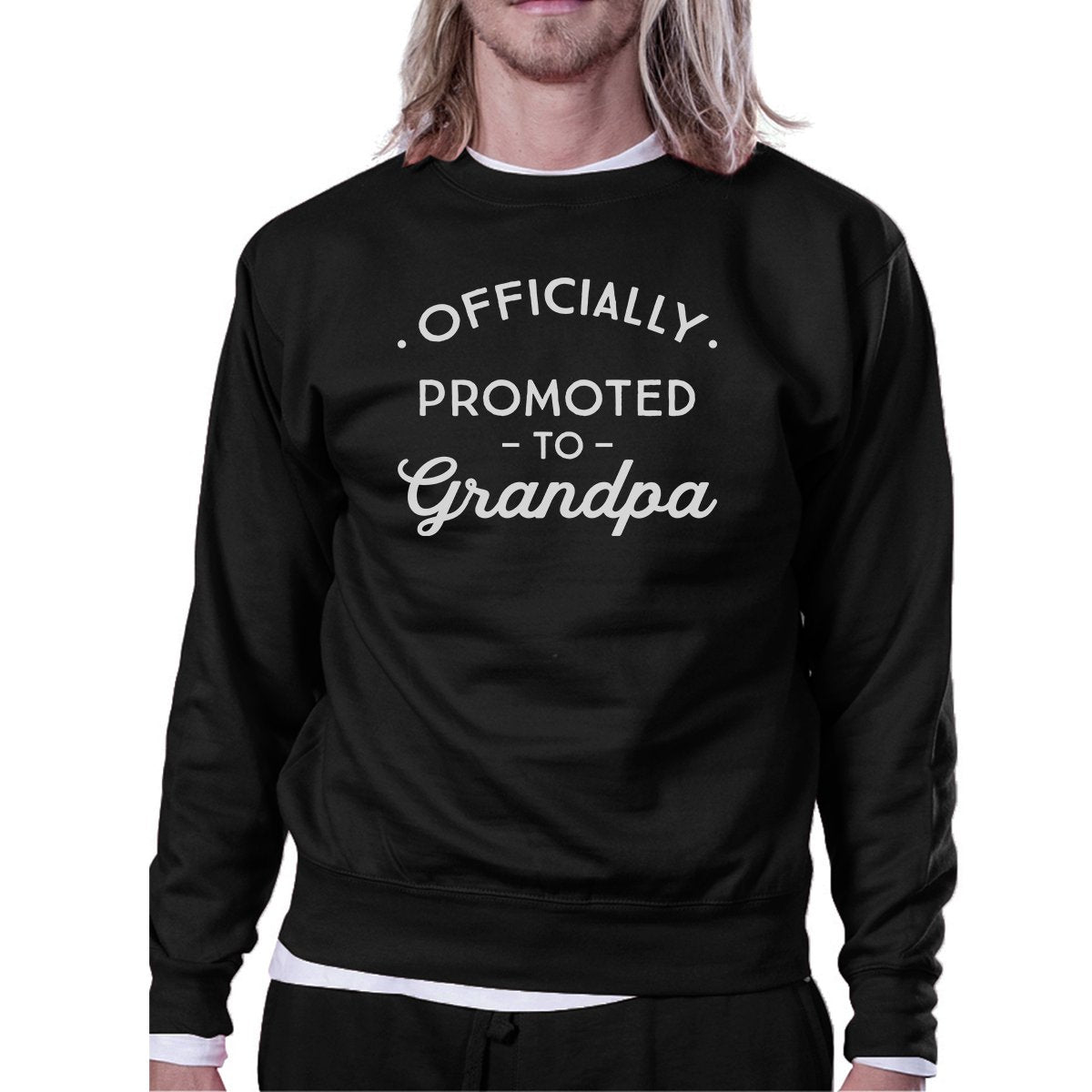 Officially Promoted To Grandpa Black Sweatshirt