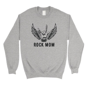 Rock Mom Unisex Pullover Sweatshirt Funny Saying Mother's Day Gift