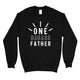 One Dadass Father Mens/Unisex Fleece Sweatshirt Warm Clever Dad