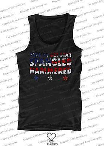 Men's Red White and Blue Tank Tops - Time to get Star Spangled Hammered
