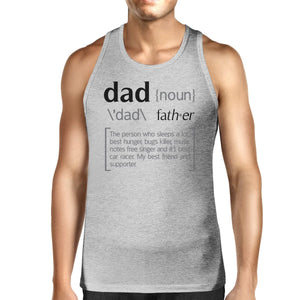 Dad Noun Mens Grey Cotton Tank Top Unique Fathers Day Gifts For Dad