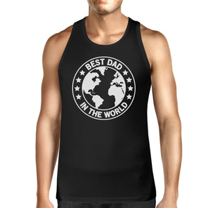 World Best Dad Mens Black Cotton Tank Top Perfect Gifts For Dad